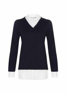 Macy Sweater Navy Ivory