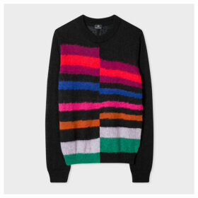 Women's Mohair-Blend Asymmetric Stripe Sweater