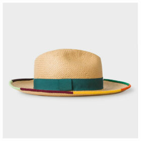 Women's Trilby Hat With Colourful Trims