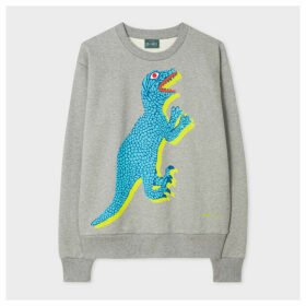 Women's Grey Large 'Dino' Print Sweatshirt