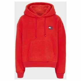 Tommy Jeans  DW0DW07806 POLAR FLEECE SWEATER Women RED  women's Sweatshirt in Red