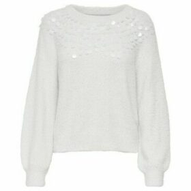 Only  15192180 SEQUINS KNITTED  women's Sweater in Beige