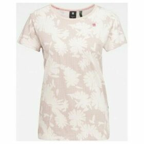 G-Star Raw  D16268 C224 GYRE ALLOVER  women's T shirt in Pink