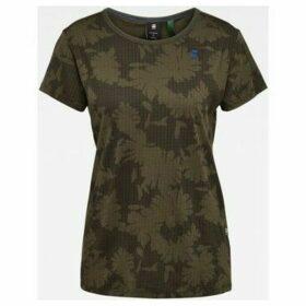 G-Star Raw  D16268 C224 GYRE ALLOVER  women's T shirt in Green