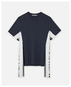 Stella McCartney Blue Logo T-shirt, Women's, Size 16