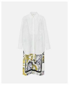 Stella McCartney White Rayna Horse Print Shirt, Women's, Size 12