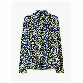 PS Paul Smith Floral Blouse, Cobalt/Multi