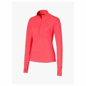 PUMA Ignite 1/4 Zip Long Sleeve Training Top, Pink