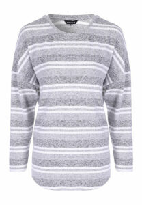 Womens Grey Stripe Cosy Top