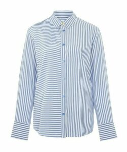 Multi-Stripe Button-Up Shirt