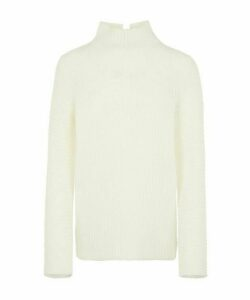 Ribbed High-Neck Knit