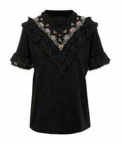 Wren Embellished Ruffle T-Shirt