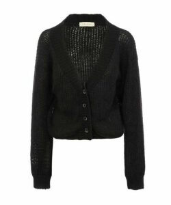 Mohair-Blend Cropped Cardigan