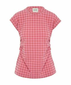 Dusk Ruched Plaid T-Shirt