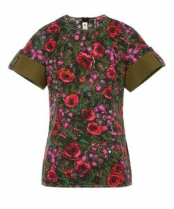 Smudgy Floral Cotton T-Shirt