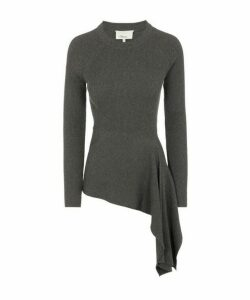 Tie-Waist Lurex Sweater
