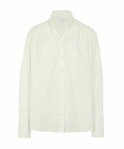 Pleated Clean Collar Shirt