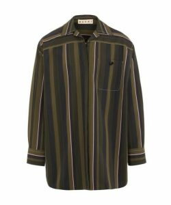 Olive Stripe Oversized Shirt