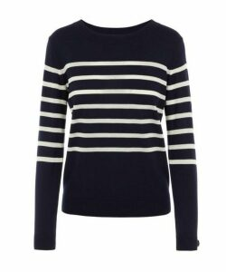 Cordelia Breton-Stripe Merino Wool-Blend Sweater