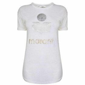 Isabel Marant Etoile Koldi Logo T Shirt