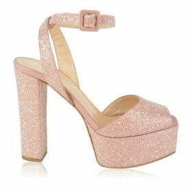 GIUSEPPE ZANOTTI Betty Glitter Clog Heels