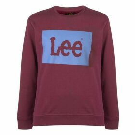 Lee Jeans Lee Square Flock Logo Sweatshirt Mens