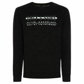 Only and Sons Karlo Front Print Sweatshirt