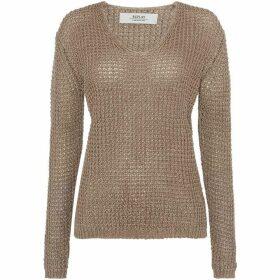 Replay Linen V-Neck Sweater