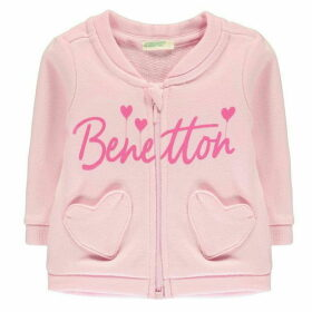 Benetton Zip Heart Pocket Sweater