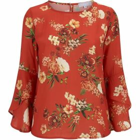 Havren Sophia Fluted Sleeve Blouse