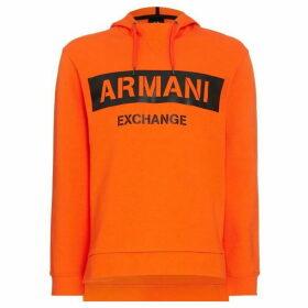 Armani Exchange Leather Logo Hoodie