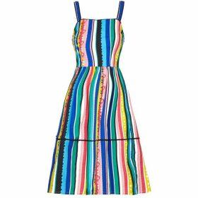 Yumi Stripe Printed Slip Sun Dress