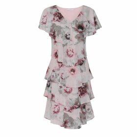 Gina Bacconi Gosia Chiffon Tiered Dress