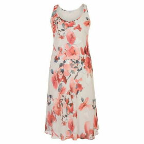 Chesca Floral Print Chiffon Dress