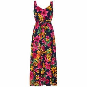 Mela Exotic Print Maxi Dress