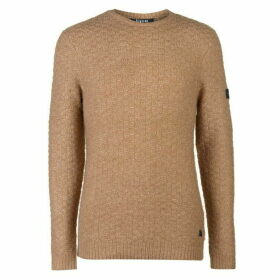 Firetrap Blackseal Textured Knit Jumper