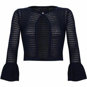 Yumi Crochet Flare Sleeve Cardigan