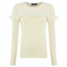 Polo Ralph Lauren Frill Cable Knit Jumper