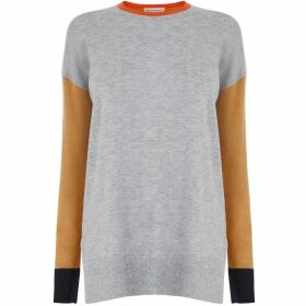 Warehouse Relaxed Colourblock Jumper