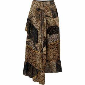 Biba Leopard Hem Skirt