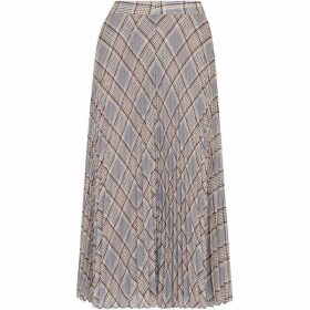 Whistles Check Pleated Skirt