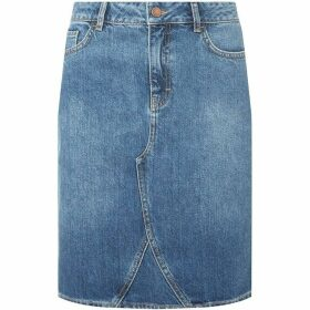 Dorothy Perkins Tall Medium Wash Denim Skirt