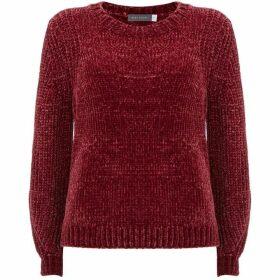 Mint Velvet Berry Chenille Cropped Knit