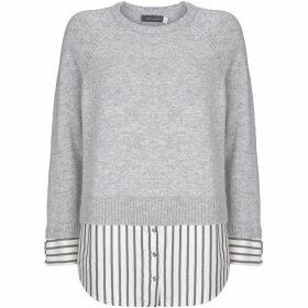 Mint Velvet Stripe Hem Knit