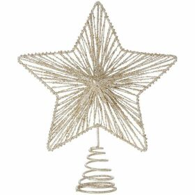 House of Fraser Champagne Glittered Star Tree Topper