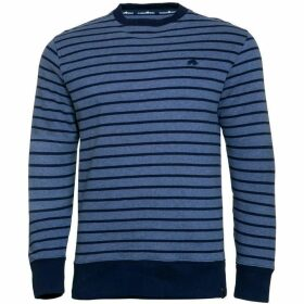 Raging Bull Big & Tall Stripe Crew Sweater