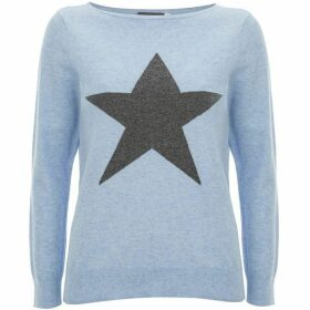 Mint Velvet Light Blue Star Front Knit