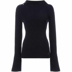 Twist and Tango Lizzia navy funnel neck knit