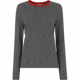 Whistles Contrast Stripe Long Sleeve Te