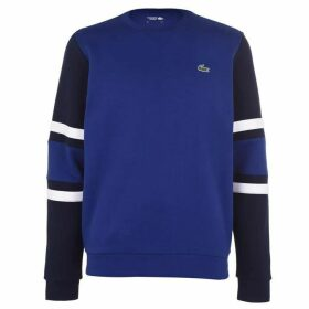 Lacoste Striped Sleeve Crew Sweater
